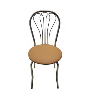 Стул Союз мебель Венус каркас хром экокожа бежевая 2 шт стул союз мебель см 8 каркас черный ткань серая 2 шт