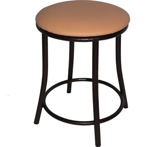 Табурет Союз мебель Вена каркас антик медь экокожа бежевая 2 шт. стул союз мебель см 8 каркас черный ткань серая 2 шт