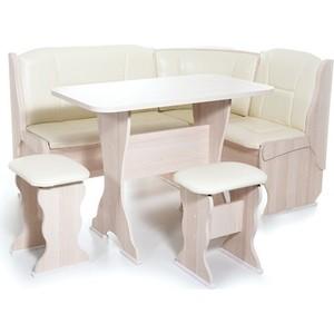Набор мебели для кухни Бител Орхидея - однотонный (ясень, Борнео крем, ясень)