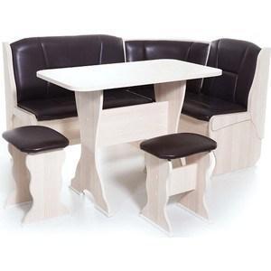 Набор мебели для кухни Бител Орхидея - однотонный (ясень, Борнео умбер, ясень)