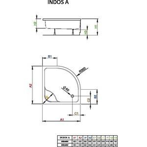 Душевой поддон Radaway Indos A, 80x80, SIA8080-01