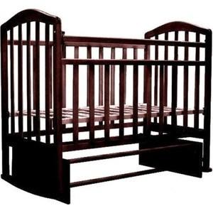 Кроватка Антел Алита 3 а/с, маятник поперечного качания, без ящика, качалка махагон Алита-3 махагон