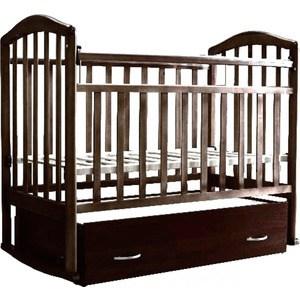 все цены на Кроватка Антел Алита 4 а/с, поперечного качания, закрытый ящик, махагон Алита-4 махагон онлайн