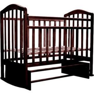 Кроватка Антел Алита 5 а/с, продольного качания махагон Алита-5 махагон