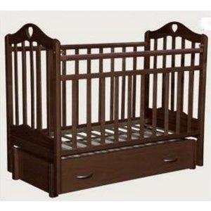 Кроватка Антел Каролина 6, маятник продольного качания, закрытый ящик махагон Каролина-6 махагон