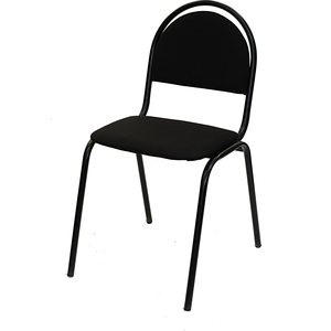 Стул Союз мебель СМ 8 каркас черный ткань черная 2 шт стул союз мебель см 8 каркас черный ткань серая 2 шт