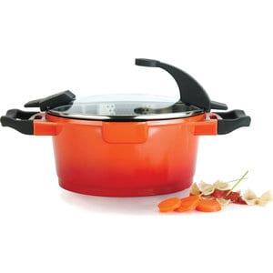 Кастрюля с крышкой 24 см 4.6 л BergHOFF Virgo Orange (2304902) кастрюля berghoff bistro с крышкой 6 л 24 см 4410030
