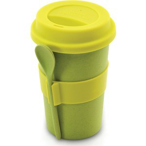 Кружка для кофе с ложкой 0.5 л BergHOFF CooknCo салатовая (2800055) папка на 2 х кольцах galaxy а4 салатовая