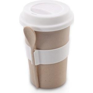 Кружка для кофе с ложкой 0.5 л BergHOFF CooknCo бежевая (2800056) кружка бежевая 8х9 8 см