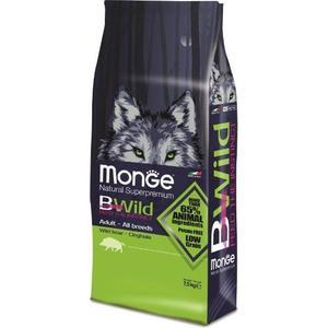Сухой корм Monge BWild Adult Dog All Breed Wild Boar с мясом дикого кабана для взрослых собак всех пород 7,5кг