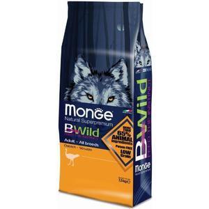 Сухой корм Monge BWild Adult Dog All Breed Ostrich с мясом страуса для взрослых собак всех пород 7,5кг