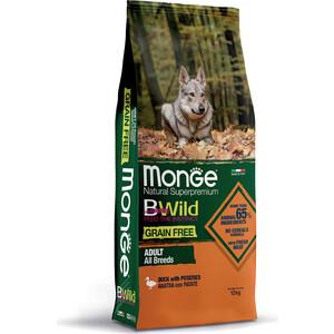 Сухой корм Monge Adult Dog All Breed Grain Free with Duck & Potatoes беззерновой с уткой и картофелем для собак 12кг