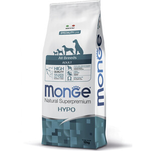 Сухой корм Monge Speciality Line Adult Dog All Breed Hypoallergenic Salmon and Tuna гипоаллергенный с лососем и тунцом для взрослых собак 12кг