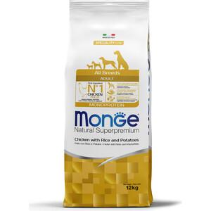 Сухой корм Monge Speciality Line Adult Dog All Breed Chicken, Rice and Potatoes с курицей, рисом и картофелем для собак всех пород 12кг