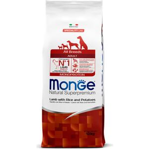 Сухой корм Monge Speciality Line Adult Dog All Breed Lamb, Rice and Potatoes с ягненком, рисом и картофелем для собак всех пород 12кг корм для собак monge dog speciality свинина с рисом и картофелем сух 2 5кг