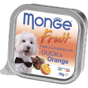 Консервы Monge Dog Fruit Pate and Chunkies with Duck & Orange паштет и кусочки с уткой и апельсином для собак 100г недорого