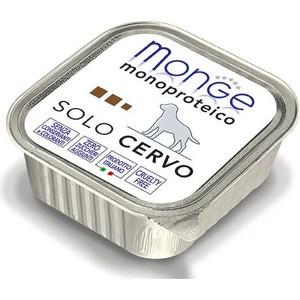 Консервы Monge Dog Monoproteico Solo Pate Venison паштет из оленины для собак 150г недорого