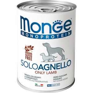 Консервы Monge Dog Monoproteico Solo Pate Lamb паштет из ягненка для собак 400г недорого