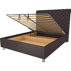 Кровать OrthoSleep Симона шоколад механизм и ящик 160х200