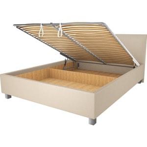 Кровать OrthoSleep Ниагара бисквит механизм и ящик 200х200 кровать orthosleep ниагара механизм и ящик белый 200х200