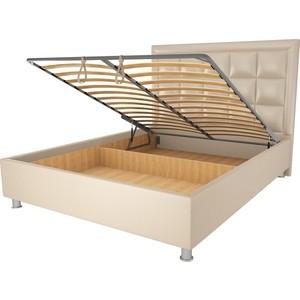 Кровать OrthoSleep Альба бисквит механизм и ящик 140х200 фото