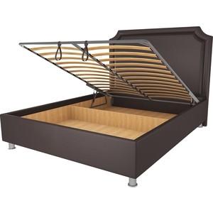 Кровать OrthoSleep Федерика шоколад механизм и ящик 200х200