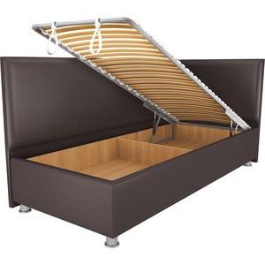 Кровать OrthoSleep Бибионе Лайт механизм и ящик Сонтекс Умбер 180х200 фото