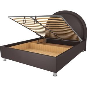 цена на Кровать OrthoSleep Аляска шоколад механизм и ящик 120х200