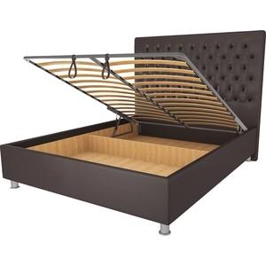 Кровать OrthoSleep Рио шоколад механизм и ящик 180х200