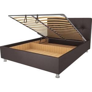 Кровать OrthoSleep Примавера уно механизм и ящик Сонтекс Умбер 160х200 кровать orthosleep примавера уно ортопед основание сонтекс умбер 160х200