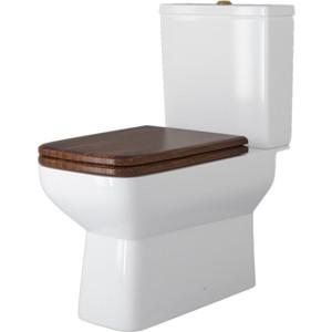 Унитаз компакт Della Quattro Oak bronze с деревянным сиденьем микролифт орех, бронза (DE521090122) стул с мягким сиденьем афродита aphrodite доступные цвета тёмный орех
