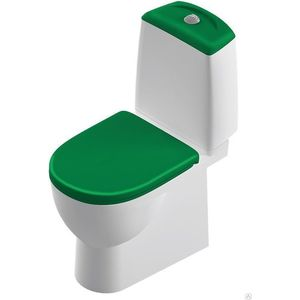 Унитаз компакт Sanita luxe Best Color Green SL DM с сиденьем микролифт Clip UP (BSTSLCC09130522 / SL900308)