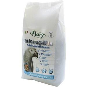 Корм Fiory Micropills Adult Maintenance Cenerini/Grey Parrots корм для серых африканских попугаев 1,4кг