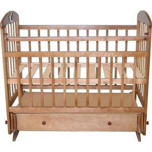 Кроватка Briciola 8 маятник поперечный с ящиком авт Орех BR0803