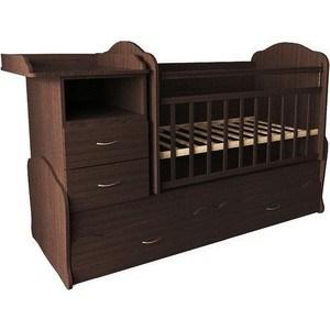 Кроватка-трансформер Valle Alisa (из 2-х частей), шоколад (VA9909)