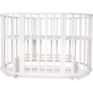 Кроватка трансформер Valle Mimi 6 в1 маятник поперечный, белая VA9301 детские кроватки счастливый малыш дюймовочка поперечный маятник