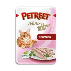 Паучи Petreet Natura Mackerel макрель (скумбрия) для кошек 85г