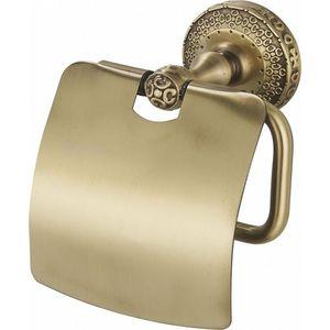 Держатель туалетной бумаги ZorG Antic с крышкой, бронза (AZR 08 BR)