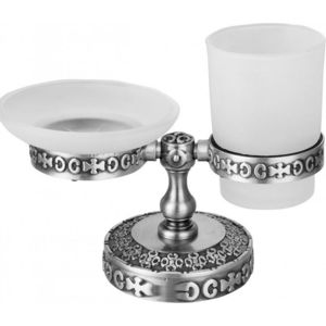 Стакан и мыльница ZorG Antic серебро (AZR 22 SL)