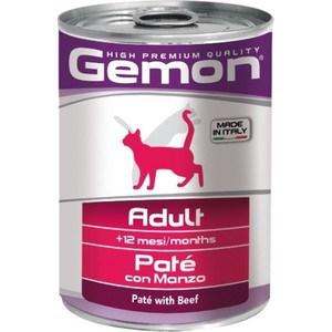 Консервы Gemon Cat Adult Pate with Beef с говядиной паштет для взрослых кошек 400г