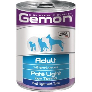 Консервы Gemon Dog Light Pate with Tuna облегченный с тунцом паштет для собак 400г