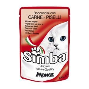 Паучи Simba Petfood Cat Chunkies with Meat and Peas с мясом и горохом паштет для кошек 100г simba simba cat pouch