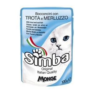 Паучи Simba Petfood Cat Chunkies with Trout and Cod с форелью и треской паштет для кошек 100г simba simba cat pouch