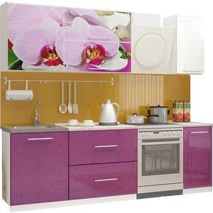 Кухня Миф Орхидея 2, 1.8м с фотопечатью