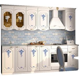 Кухня Миф Лиза, синий цветок, 2.0м цена