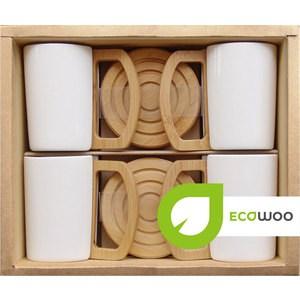 Набор 4 кружки на подставках Ecowoo (2012248U)