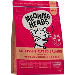 Сухой корм BARKING HEADS Adult Cat Purr-Nickety For a Fussy Diner Salmon, Chicken & Fish с лососем, курицей и рыбой для взрослых кошек 1,5кг (2418/20585) фото