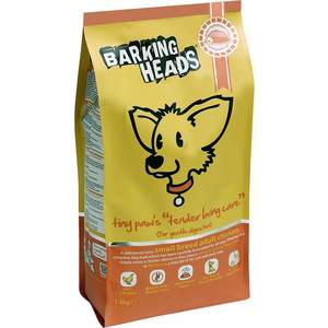 Сухой корм BARKING HEADS Small Breed Tiny Paws Tender Loving Care Gentle Digestion with Chicken с курицей для собак мелких пород 1,5кг (0889/18093)