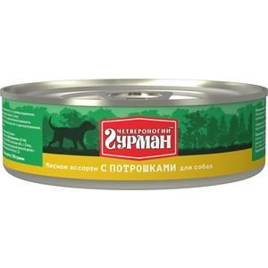 Консервы Четвероногий гурман Мясное ассорти с потрошками для собак 100г четвероногий гурман консервы мясное ассорти с потрошками для собак 100 г