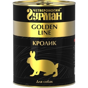 Консервы Четвероногий гурман Golden Line кролик для собак 340г цена
